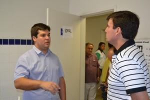 Diretor da IOFAL em Penedo (Walber Bezerra) e Prefeito Március Beltrão / Foto: Boa Informação
