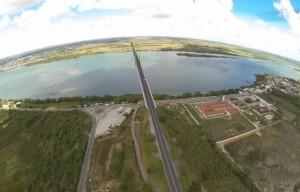 Imagem virtual de como ficaria a ponte. Imagem: Divulgação
