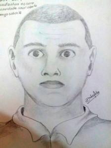 Retrato falado do acusado (Foto: Assessoria)