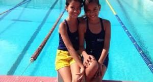 Crianças penedenses em competicao de natacao