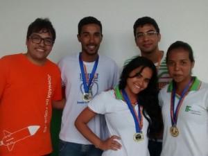 Equipe do Ifal Penedo foi campeã da Olimpíada Alagoana (Foto: Arquivo Pessoal)