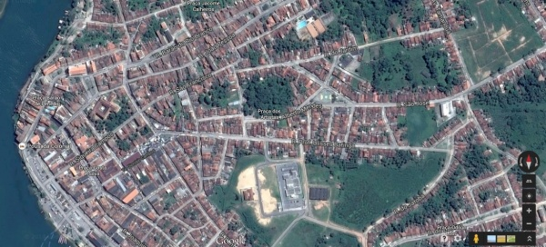 Visão geral do município de Penedo.