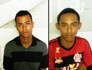Leandro e Markito estavam praticando roubo perto do Colégio Estadual.
