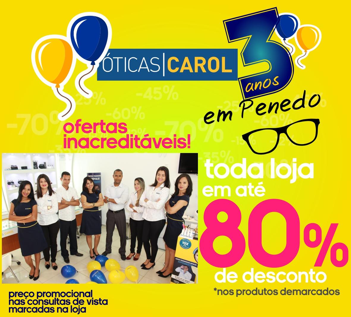 Óticas Carol de Penedo entra no mês de aniversário com toda loja ... - Boa  Informação 07a0cf9baa