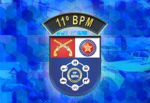 11º BPM - PMAL - Logo do 11º bpm (Ilustração Kim Emmanuel)