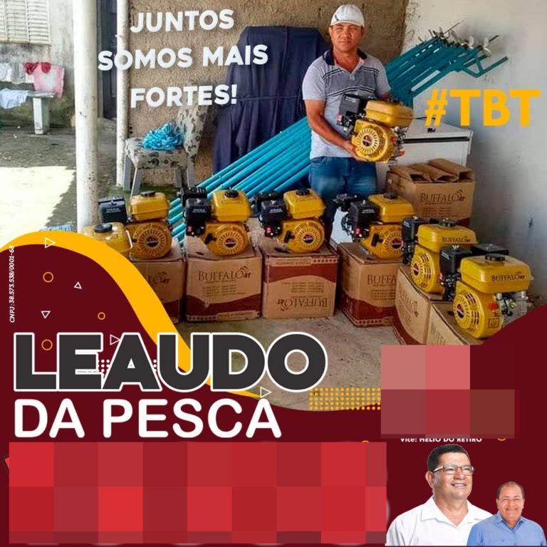 Candidato usa equipamentos doados pela Codevasf em sua propaganda de campanha